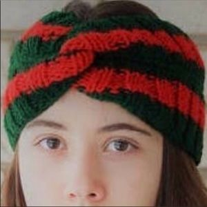 Accessories - Green and Red Knit Headband